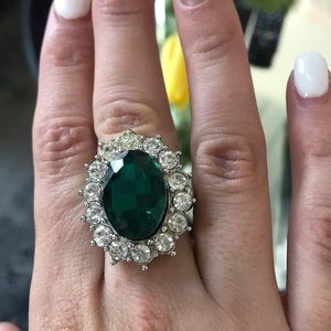 Accessories - Green Art Deco ring
